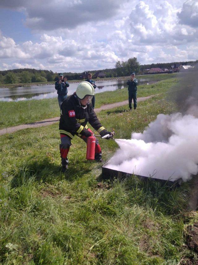 Прошли соревнования санитарных дружин и добровольных пожарных дружин